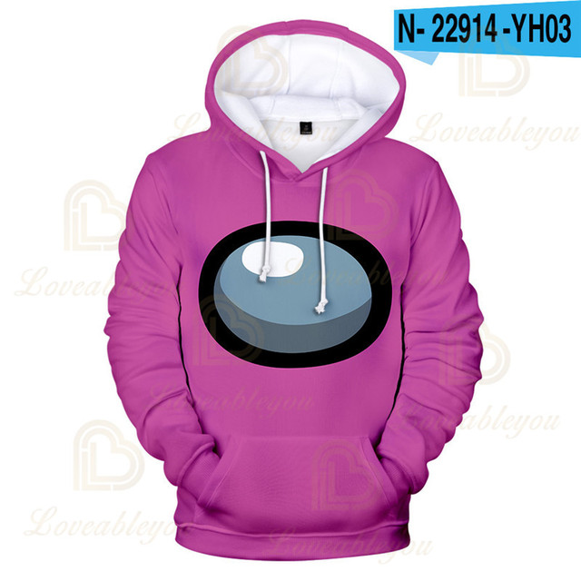 Impostor Among Us Game Kids Boys Girls Hoodie Hooded Sweatshirt Pullover Tops