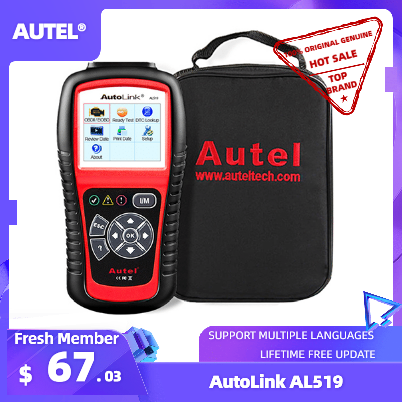 Autel AutoLink AL519 Diagnose Werkzeug OBD2 Scanner Code Reader Scanner Automotriz Automotivo Scanner Auto diagnose