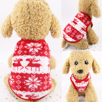 Warm Cotton Cute Dog Clothes For Small Dogs Chihuahua Pomeranians Soft Pet Dog Sweaters For Small Dogs Coat Jacket image