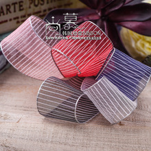 100yards 25mm 40mm silver horizontal stripes organza sheer ribbon for hair bow diy accessories bouquet flower packing