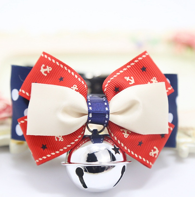 Pet Decorations Small Dogs Teddy Bichon Bow Bell Neck Ring Pet Dog Tie Knot