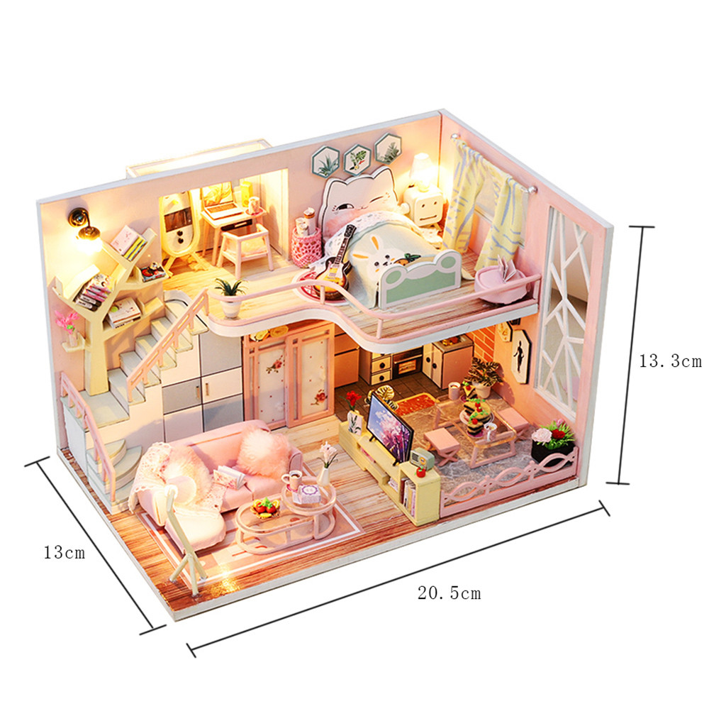 H98ab2f2925ab4f14984fbbf267a93367B - Robotime - DIY Models, DIY Miniature Houses, 3d Wooden Puzzle