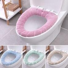 Mat-Set Lid-Cover Closestool Toilet-Case Washable Home-Decor Comfortable Soft Coral Seat-Mat