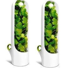 1/2 pçs premium herb saver casa cozinha gadgets herb recipiente de armazenamento herb keeper mantém verdes copo fresco ferramentas especiais