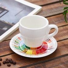 170ml /280ml gruby korpus ceramiczny tulipan latte kubek kawy cappuccino filiżanka i spodek w smaku koła projekt barista kubek spodek