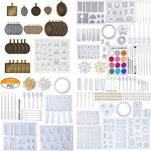 Resina epoxi para accesorios de joyería DIY, DIY, juegos de moldes de resina para rellenar resina UV, regalo de decoración 3D Irregular de relleno de silicona