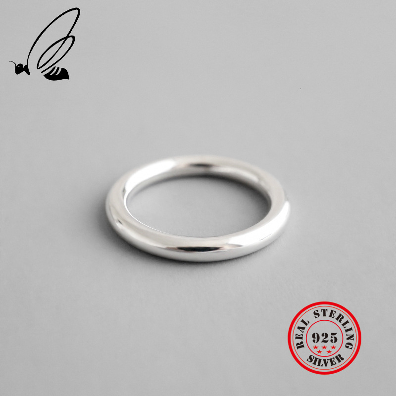 Minimalist Round Ring 925 Sterling Silver Rings Female Handmade Bague Femme Argent 925 Accesorios Mujer Moda 2019 Jewellery