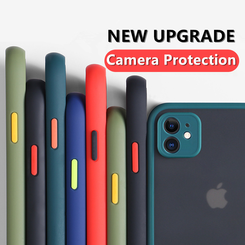 Camera Lens Protection Phone Case For iPhone 11 Pro Max X XS Max XR 6 6S 7 8 Plus Matte Translucent Hard Shockproof Back Cover