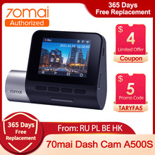 70mai Dash Cam A500S 1944P Auto Dvr Dash Cam Pro Snelheid En Gps Coördinaten Parking Mode Nachtzicht Wifi pro Plus A500