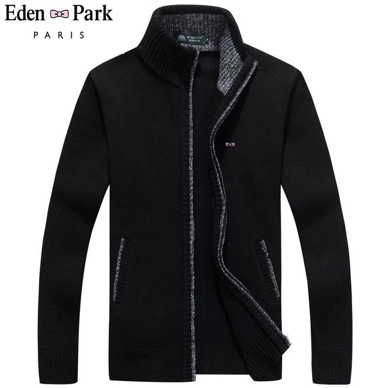 2020 New Sweater Men Park Autumn Winter SweaterCoats Eden Male Thick Mens Sweater Jackets Casual Zipper Knitwear Size M-3XL(China)