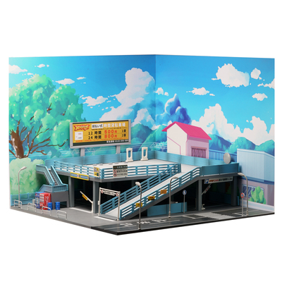 1/64  Japanese Style Scene Background Board For Model Car Parking Lot Scene