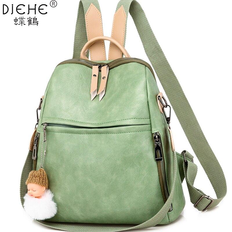 Women's Backpack Soft Leather Female Shoulder Bag Large Capacity Backpacks Fashion School Bag For Teenage Girls Travel Backpack