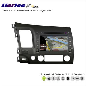 Liorlee For Honda Civic 2006-2011 Car Android Navigation Radio Navi Map Audio Stereo Video GPS Player Screen 2 in 1 System