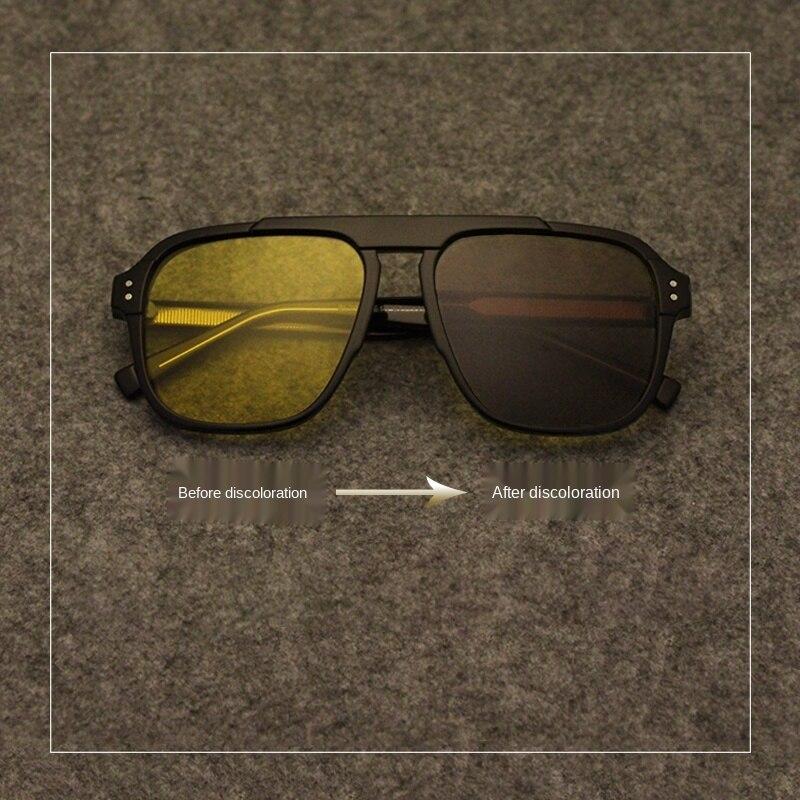 Gafas de sol cuadradas polarizadas con cambio de color para mujer y hombre, lentes fotocromáticas de alta definición para conducir