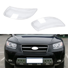 Clear Lens Shell Cover Car Front Headlight Cover Replacement for Hyundai Santa Fe 2008 2009 2010 2011 2012 front upper fairing cowling headlight headlamp stay bracket for kawasaki ninja zx10r zx 10r 2008 2009 2010