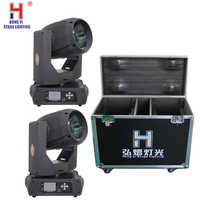 High power 350W 17R Sharpy Strahl Moving Head dj licht DMX bühne licht gobo licht für disco party mit flight (2 teile/los)