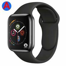 Um smartwatch série 4 bluetooth relógio inteligente homem com chamada de telefone remoto câmera para ios apple iphone android samsung huawei
