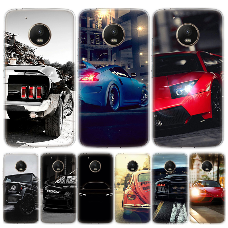 Sports Cars Male Men Phone Case For Motorola MOTO G8 G7 G6 G5 G5S G4 E6 E5 E4 Plus Play Power One Action Soft Silicone TPU Cover