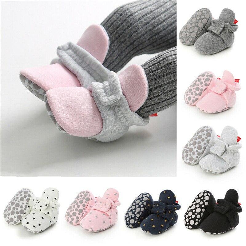Shoes Toddler Prewalker Soft-Sole Anti-Slip Infant Baby-Girl Boy Cotton Warm 0-18M