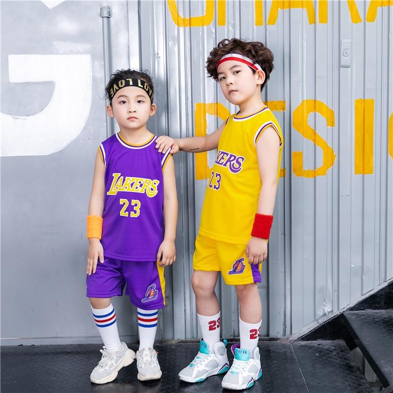 Children Basketball Clothes Suit Red Sports Clothing Kindergarten Basketball Costume Multi-color Breathable Kindergarten Suit Cu