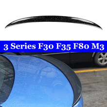 Back Wing Lip For BMW 3 Series F30 F35 F80 M3 Forged Carbon Spoiler 320i 328i 335i 326D 2012-2018 for bmw f30 f80 m3 spoiler carbon fiber material m performance style 2012 up 320i 328i 335i 326d f30 carbon fiber