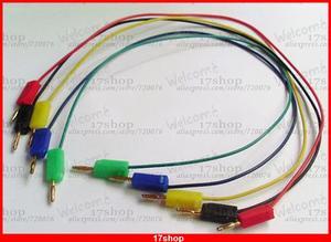 100 pièces x or 2mm prise banane mâle Jack Test câble 5 couleur câble longueur 35cm