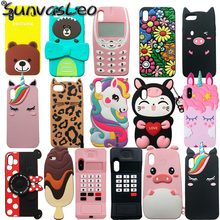 For iPhone 5 6 7 8 X XR XS Max / Plus New 3D Cartoon Animal Soft Silic
