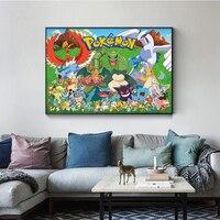 Póster de Pokemon de alta calidad, pintura en lienzo, cuadro de pared, Mural para dormitorio de niños, decoración del hogar