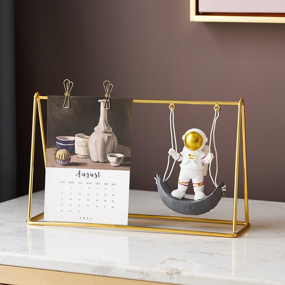 Home Calendar Decoration Accessories Nordic Living Room Astronaut Statue Office Desktop Decoration Children's Birthday Gift