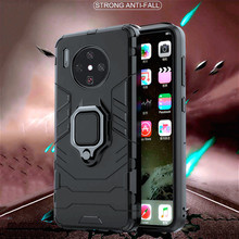 New Full Covered Armor Case for Huawei Mate 30 Pro Magnetic Car Holder Ant-knock Soft Bumper Cover Coque