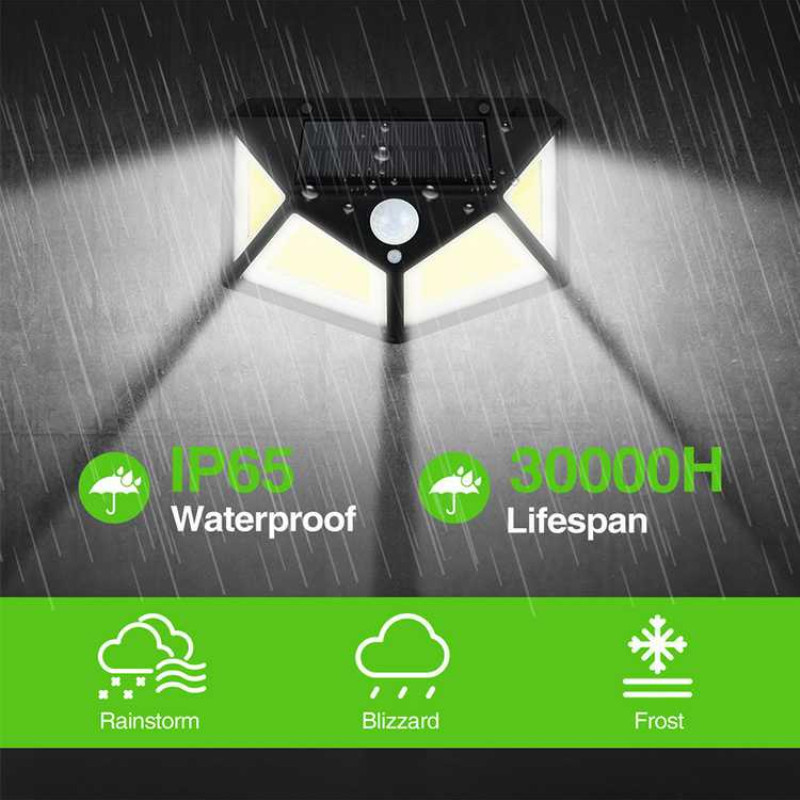 120 COB LED Solar Light Outdoor Solar Lamp PIR Motion Sensor Wall Lamps Waterproof Solar Sunlight Powered Garden Street Lights