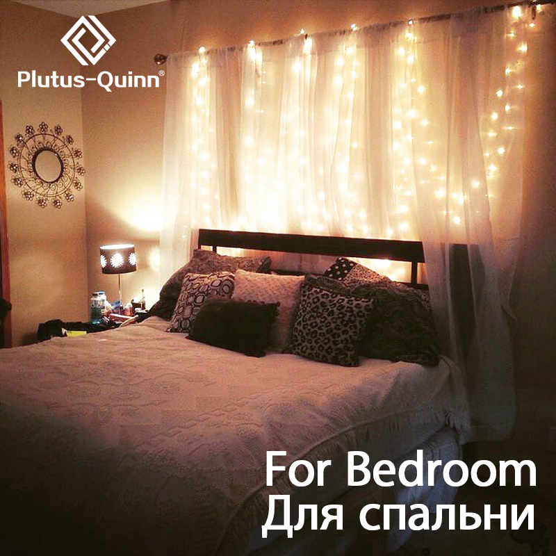 2x2/3x3/6x3m 300 LED Garland Fairy String Lights For Curtains/Bedroom/Wedding Decor As Christmas Outdoor Light Holiday Lights