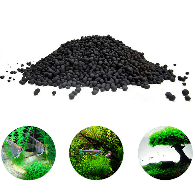 50-200g Fish Tank Water Plant Fertility Substrate Aquarium Plant Soil Substrate Gravel Aquatic Decoration Grass Plant Mud Soil