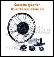 Cassette type for 8s or 9s rear ebike kit
