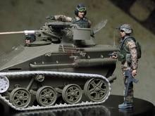 1/35 Resin Figuur Model Kit Unassambled Unpainted X314 (Geen Tank)
