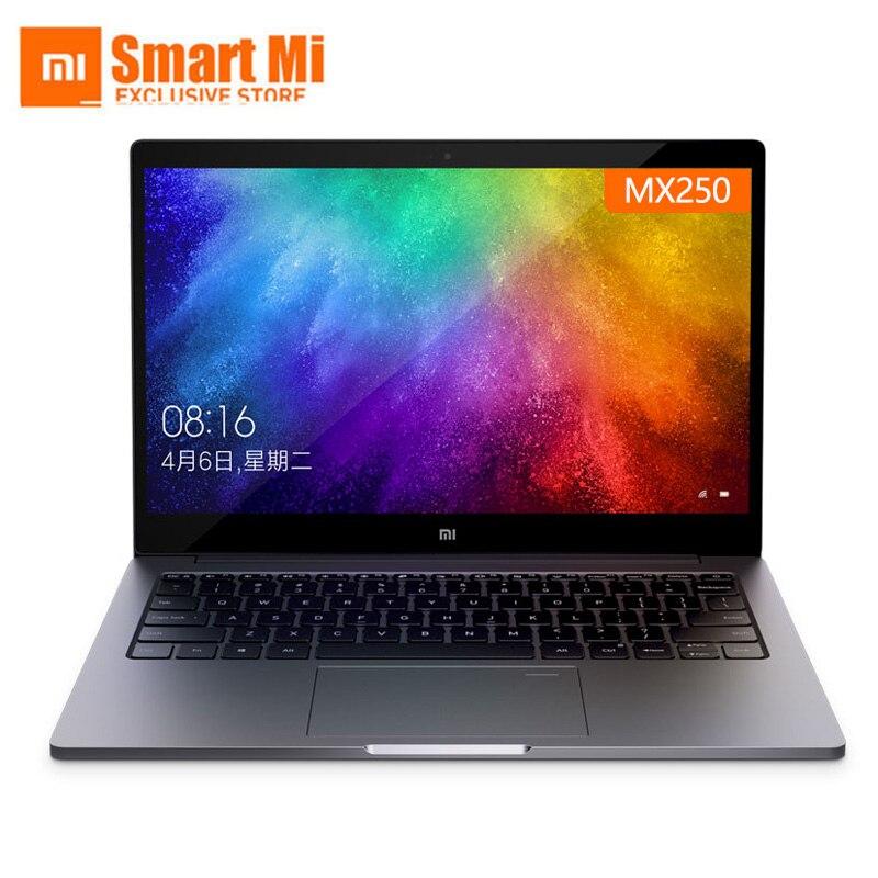 Xiao mi mi Notebook Laptop Ar 13.3 Polegada Inglês Win10 MX250 Dual Cartão Dedicado Intel i5/i7 8GB ram 256GB SSD Com Impressão Digital