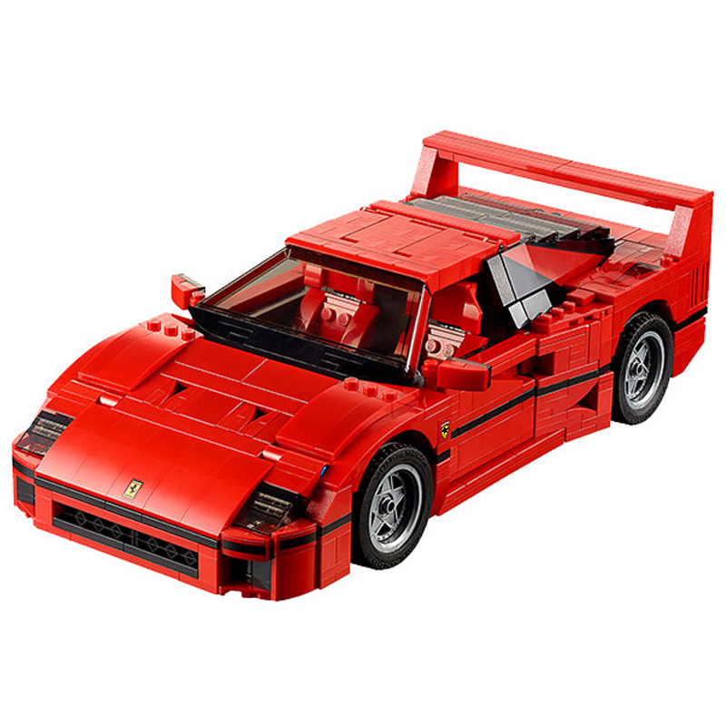 Technic MOC Sports Cars 21004 Ferrarie F40 Supercar Creator Model Building Blocks Kits Bricks Toys Compatible For Legoing 10248