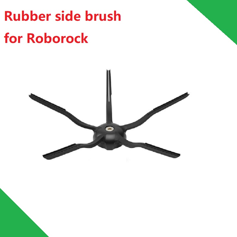 Rubber Side Brush For Roborock Vacuum Cleaner  S6 Series S60 S61 S65 Accessory Spare Parts Black