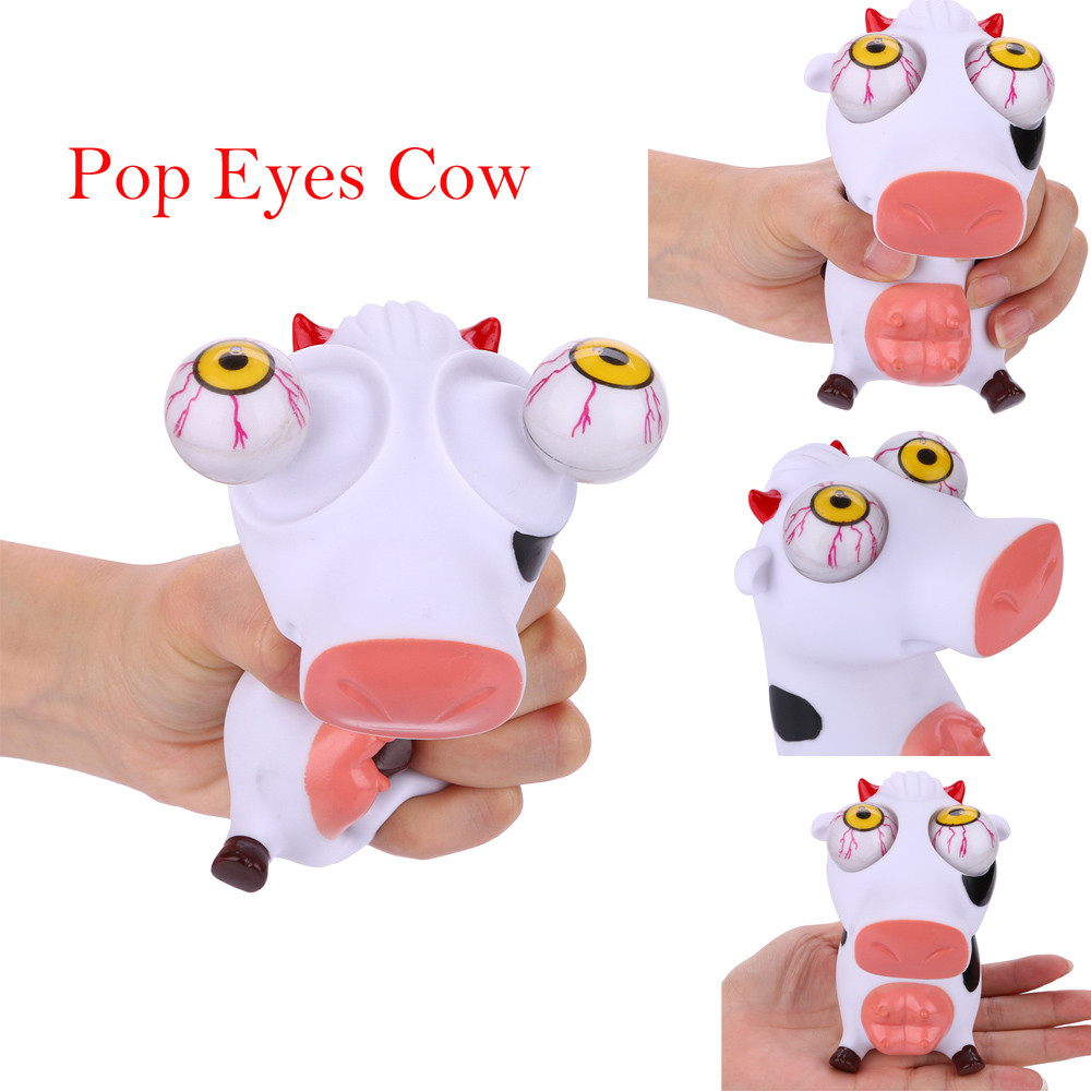 Novelties Toy New Sale Lovely Cows Squeeze Vent Toys Anti Stress Reliever Fun Gift Toy Ball Vomitive Squeeze Funny Toyss  L1218