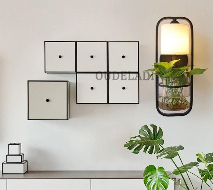 Lâmpadas de parede vidro americano moderno ferro