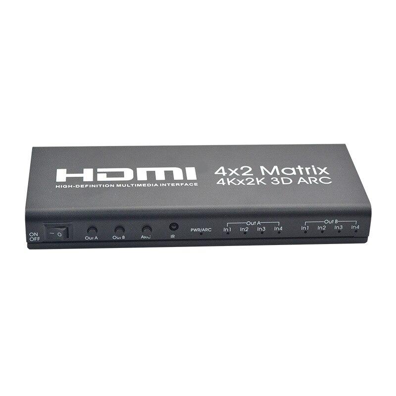 HDMI Matrix 4X2 HDMI 4 In 2 Out 4K 2K HDMI 4 X 2 Switcher HDMI 1.4B EU Plug