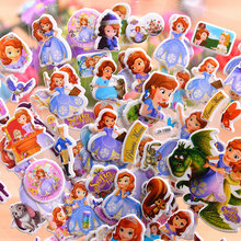 12 Sheets/set Disney Sophia Princess scrapbooking for kids rooms decor diary notebook decoration toy 3D sticker