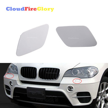 Pair L+R Primed For BMW X5 E70 2007-2011 Front Headlight Washer Nozzle Jet Cover Cap Left unpainted 51657199141 51657199142 image