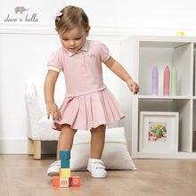 Db13088 dave bella verão da menina do bebê princesa dos desenhos animados drapeado vestido crianças moda vestido de festa infantil lolita roupas