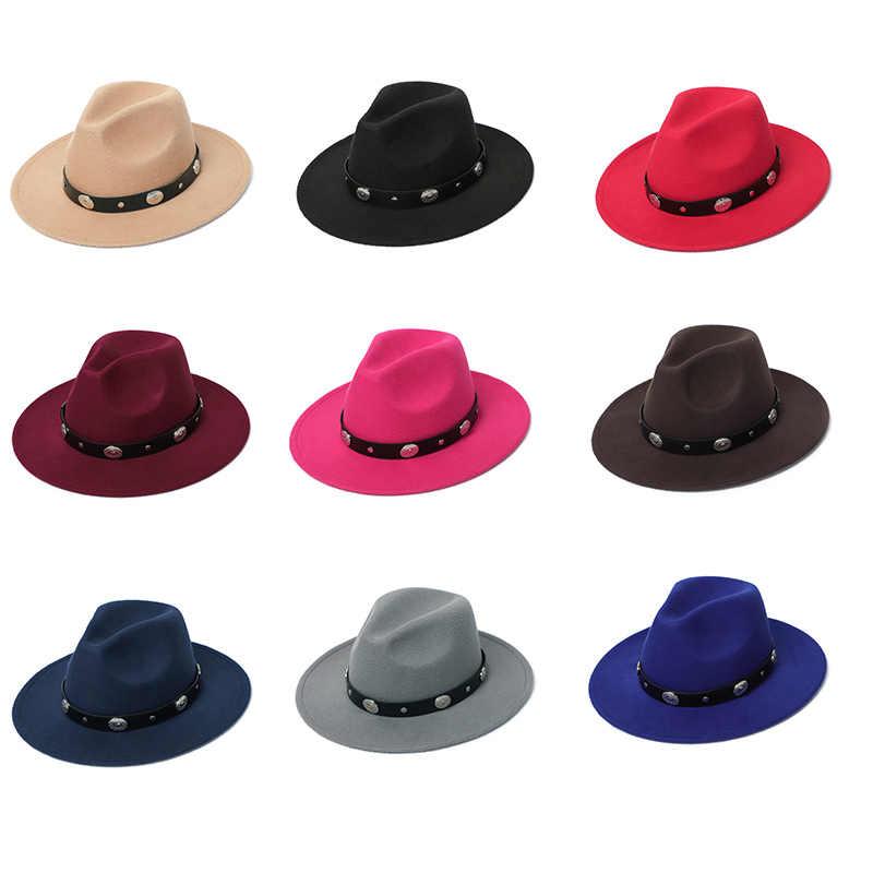 Fedora Topi Musim Dingin Tukang Pesona Imitasi Wol Musim Gugur Klasik Warna Merasa Topi Wanita Topi 2019