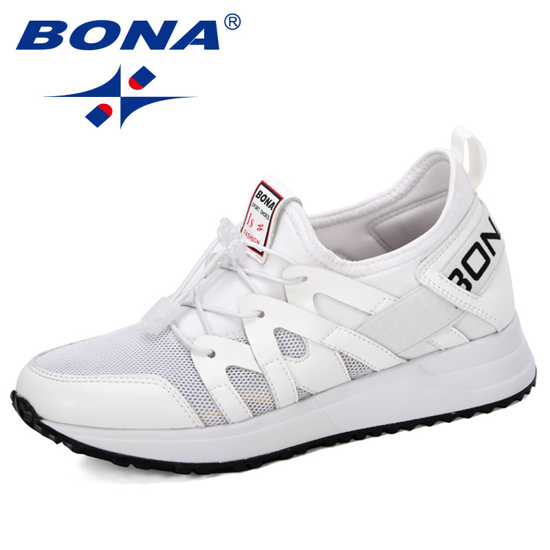 BONA 2019 New Arrival Popular Style Women Vulcanize Shoes Fashion Soft Basket Femme Platform Breathable Mesh Sneakers Women Shoe