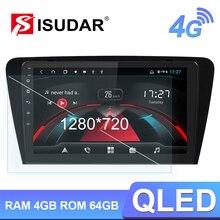 Isudar H53 4G אנדרואיד מולטימדיה לרכב 1 דין אוטומטי רדיו לסקודה/אוקטביה 2014  GPS 8 ליבה זיכרון RAM 4GB ROM 64GB 1080P מצלמה DVR DSP