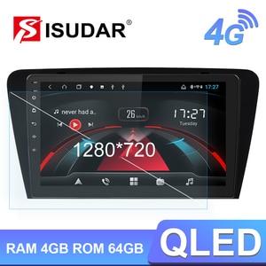 Image 1 - Isudar H53 4G אנדרואיד מולטימדיה לרכב 1 דין אוטומטי רדיו לסקודה/אוקטביה 2014  GPS 8 ליבה זיכרון RAM 4GB ROM 64GB 1080P מצלמה DVR DSP