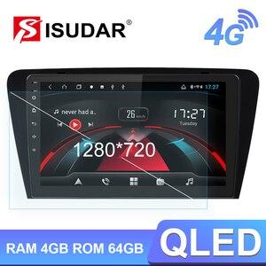 Image 1 - Isudar autoradio multimédia H53 Android, 8 cœurs, RAM de 4 go, ROM de 64 go, caméra DVR, DSP, 4G, 1 Din, pour voiture Skoda/Octavia 2014 1080