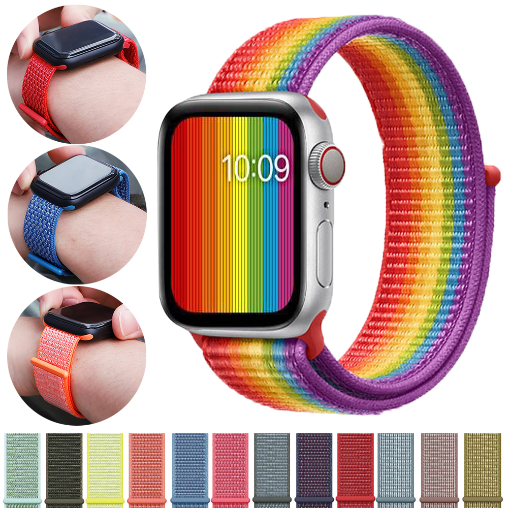 Strap For Apple Watch Band Apple Watch 4 3 5 44mm 42mm Iwatch Band 5 2 42mm 38mm Sport Loop Correa Nylon Loop Bracelet Watchband